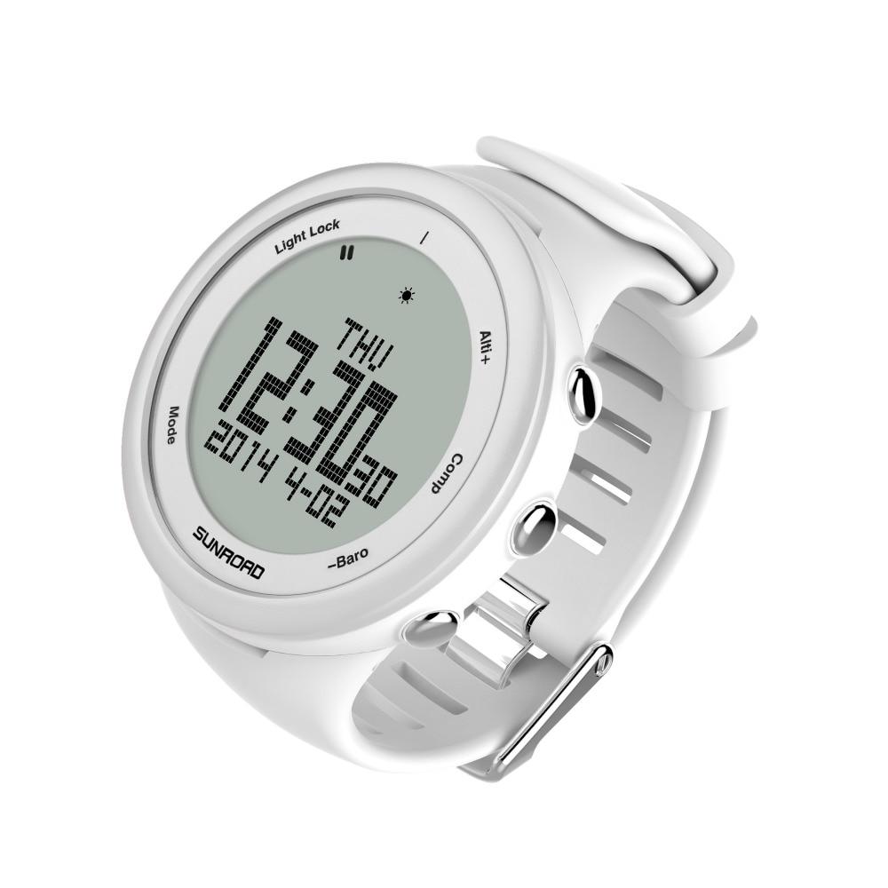 SUNROAD męska wspinaczka cyfrowy zegarek sportowy wodoodporny mężczyźni krokomierz wysokościomierz barometr zegarki Reloj Mujer w Zegarki cyfrowe od Zegarki na  Grupa 1