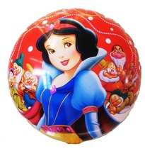 1pc 18inch White Snow Princess Foil Balloon for Party Supply Promotion Print Air Balloon Advertising Wedding Birthday  Layout