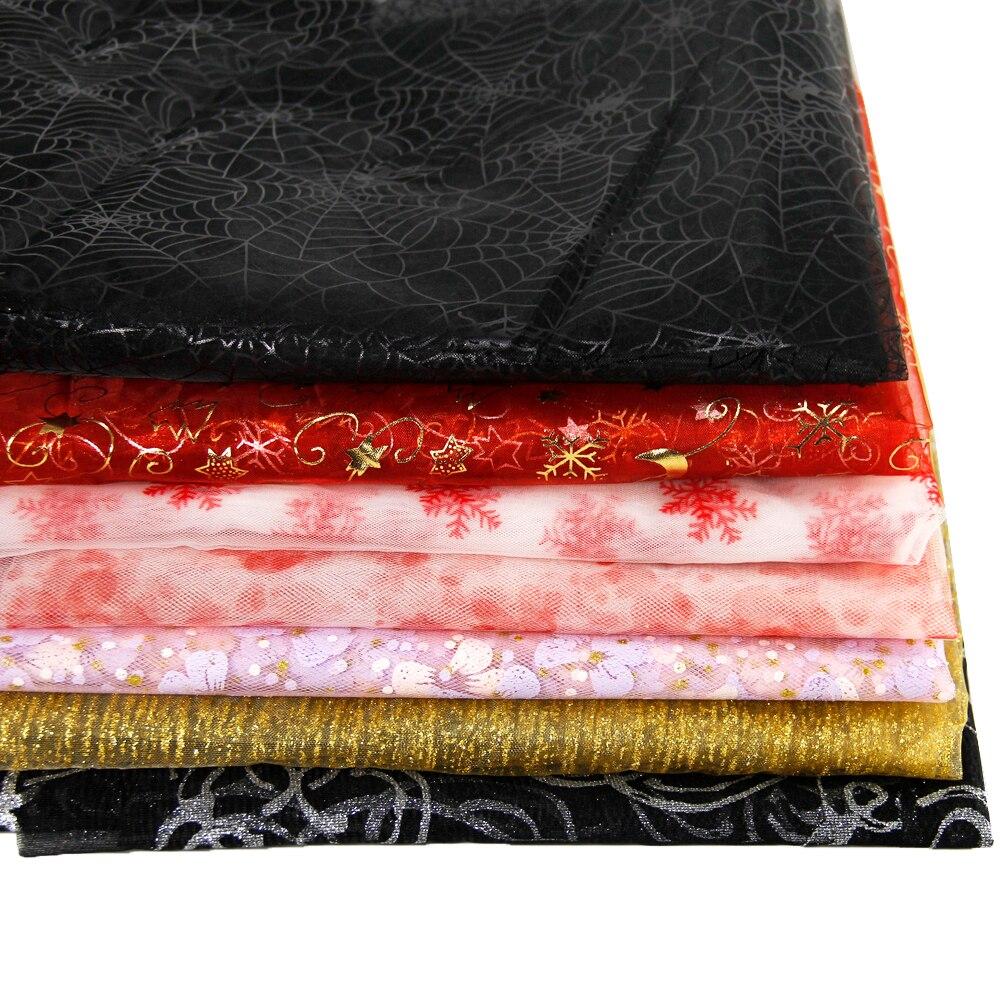 50*145 CM patchwork tela impresa gasa para Niños Tejido ropa de Cama textil para