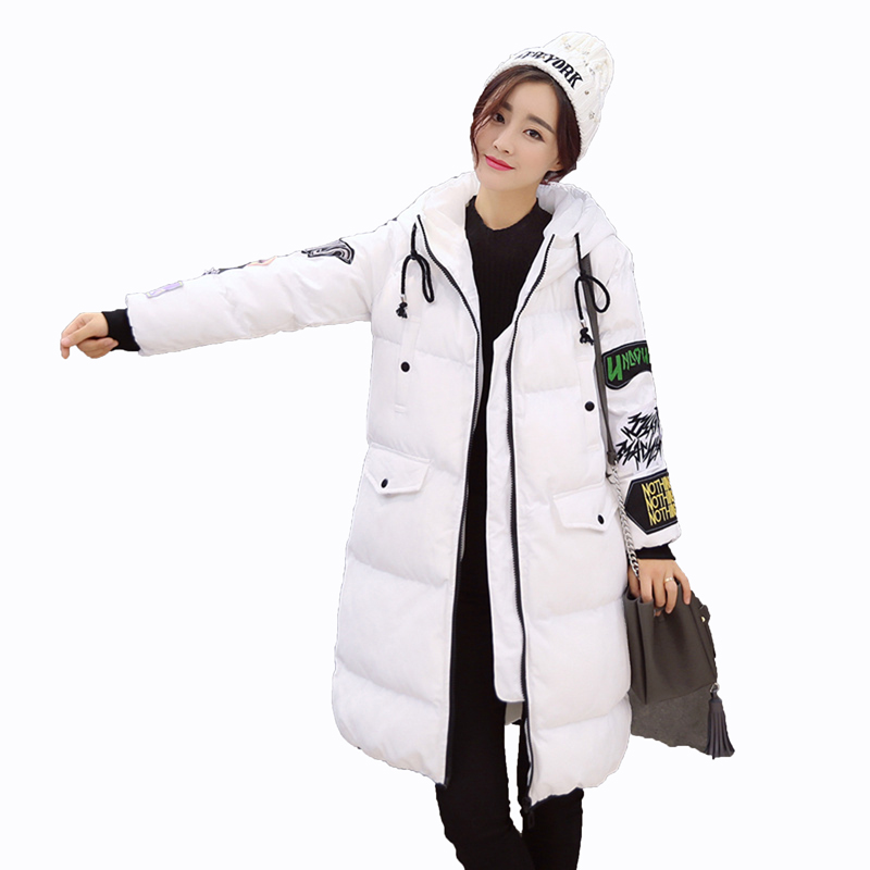 2017 New fashion Winter Women Coat Elegant Pure color Thick Warm Hooded Cotton Jacket High quality Large size Women Coat 1L66 2017 new korean winter women coat elegant pure color thick warm hooded cotton jacket high quality large size women coat parkas