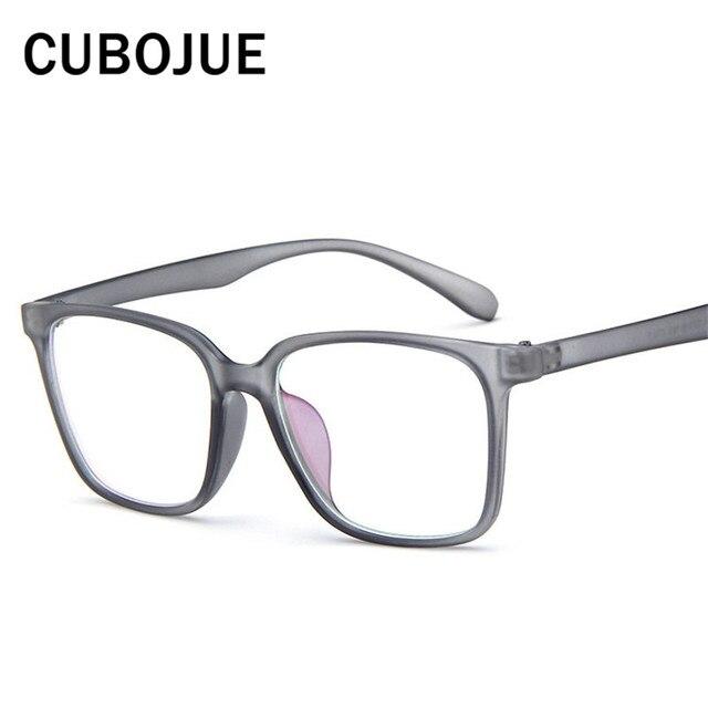 Cubojue Oversized Eye Glasses Frame Men Women Vintage Spectacles for ...