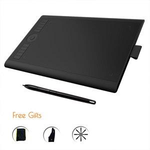 GAOMON M10K 2018 версия-8192, ручка без батареи, широкое цифровое письмо для рисования бумажного планшета с двумя пальчиковыми перчатками