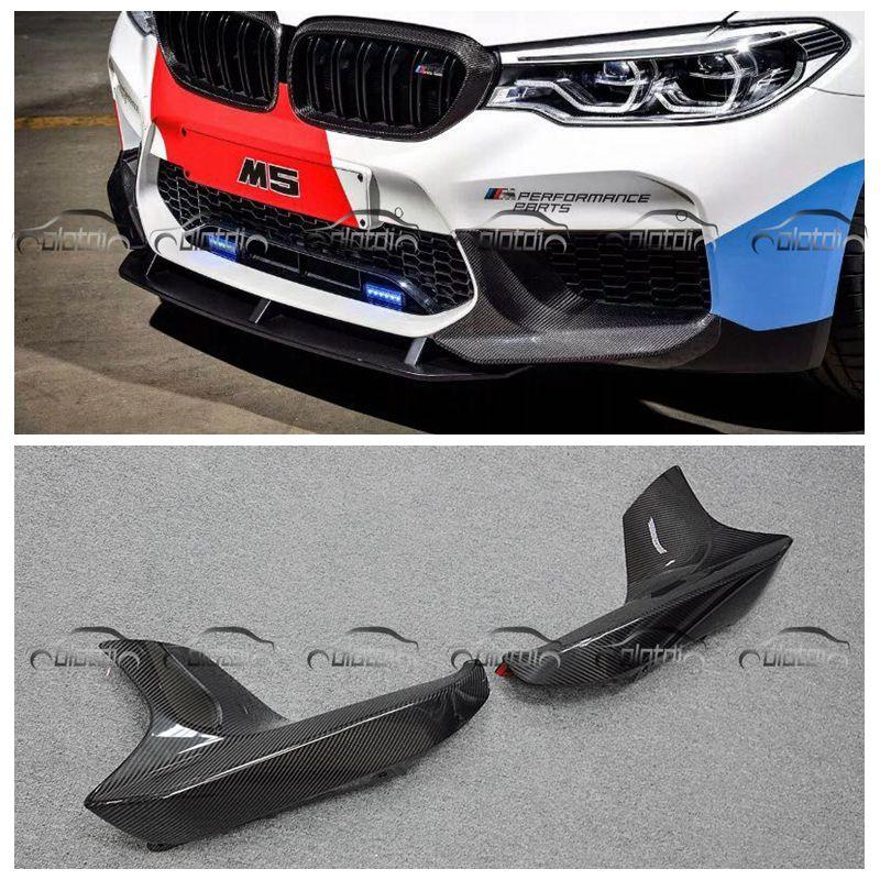 OLOTDI Avant Splitter Pièces Pour BMW F90 M5 Car Styling P Style Fiber De Carbone Avant Coin Pare-chocs Becquet Protecteur