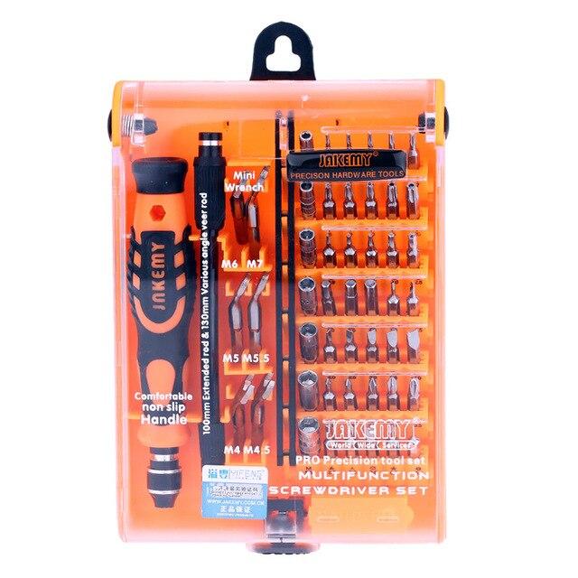 JAKEMY Laptop Screwdriver Set Professional Repair Hand Tools Kit 52 in 1 for Mobile Phone Computer Electronic Model DIY JM-8150