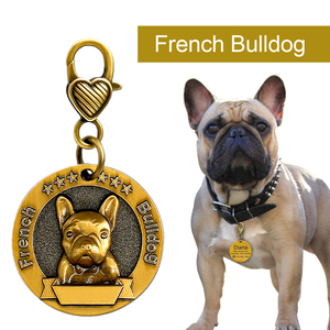 Image 5 - Dog ID Tag Engraved Personalized Metal Pet Dog Tags Custom Puppy Cat ID Name Tags Collar Accessories For Dogs Necklaces Pendants