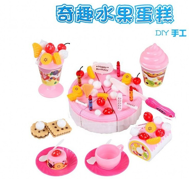 Gift box set artificial cake qieqie see fruit cake combination child toy