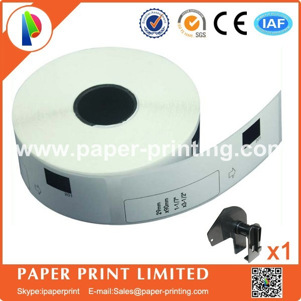 4x Roll Dk1201 Address Labels Brother Dk Cd Label Thermal 11201 With 1 Reusable Cartridge In Printer Ribbons From Computer