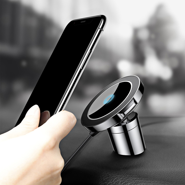 Baseus QI Wireless Charger Magnetic Car Holder For iPhone