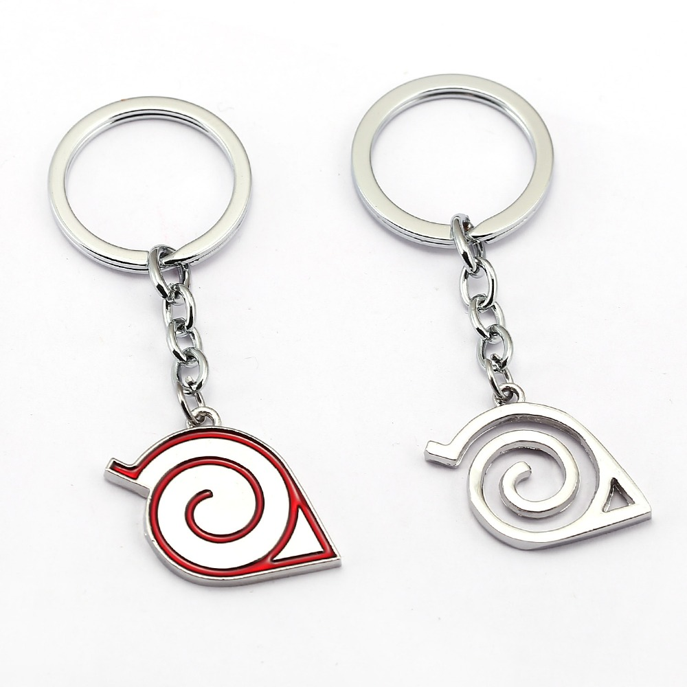 NARUTO Keychain Anime Key Chain Sasuke Gaara Key Ring Holder Pendant Akatsuki Chaveiro Jewelry Souvenir YS12100