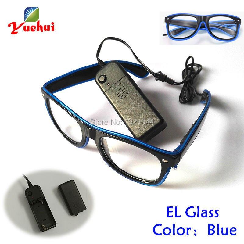 9c98ef49335ee 3 V Constante no Driver + Led Azul Neon Óculos Neon glow luz EL Fio ...
