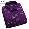 Langmeng 2017 venda quente dos homens da marca camisa casual camisas de vestido do negócio dos homens de espessura de veludo de manga comprida fina masculino camisas formais
