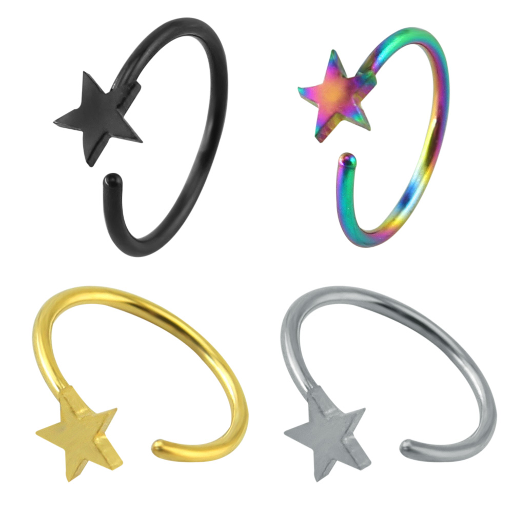 Jewelry amp watches gt fashion jewelry gt body jewelry gt body piercing - Nose Ring Stainless Steel Earrings Lip Ring Septum Pierced Clicker Jewelry Trendy Septum Body Piercing Women