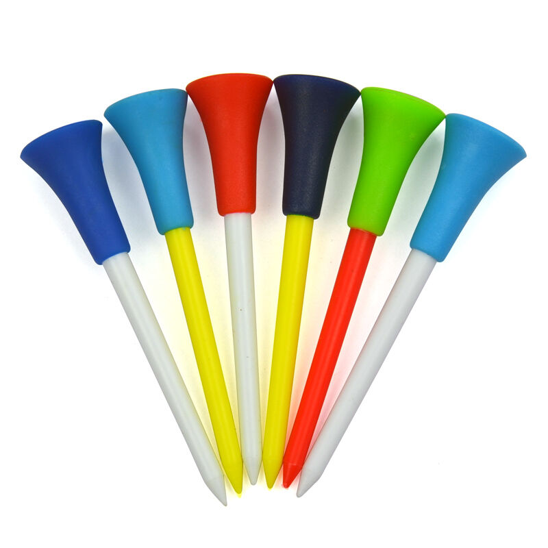 20 Count Golf Tees Plastic Mixed Color 56mm 72mm 85mm