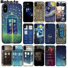 Babaite Tardis Doctor Dr Who Police Box Novelty Fundas Phone Case Cover for Apple iPhone 8 7 6 6S Plus X XS MAX 5 5S SE XR Cases(China)