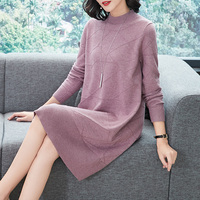 New Arrival Women's Long Sweater Pullovers Autumn Winter Elegant Ladies Sweater Dress Knit Dress Free Shipping