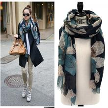 Scarves Shawl Voile Print Winter Christmas PU27