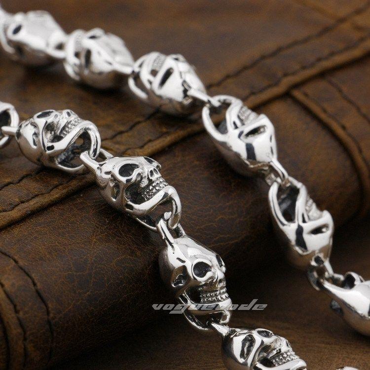 925 ստերլինգ արծաթյա գանգեր - Նորաձև զարդեր - Լուսանկար 3