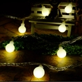 Ball 2M 20 LED Battery Operated LED String Lights for Xmas Garland Party Wedding Decoration Christmas Flasher Fairy Lights