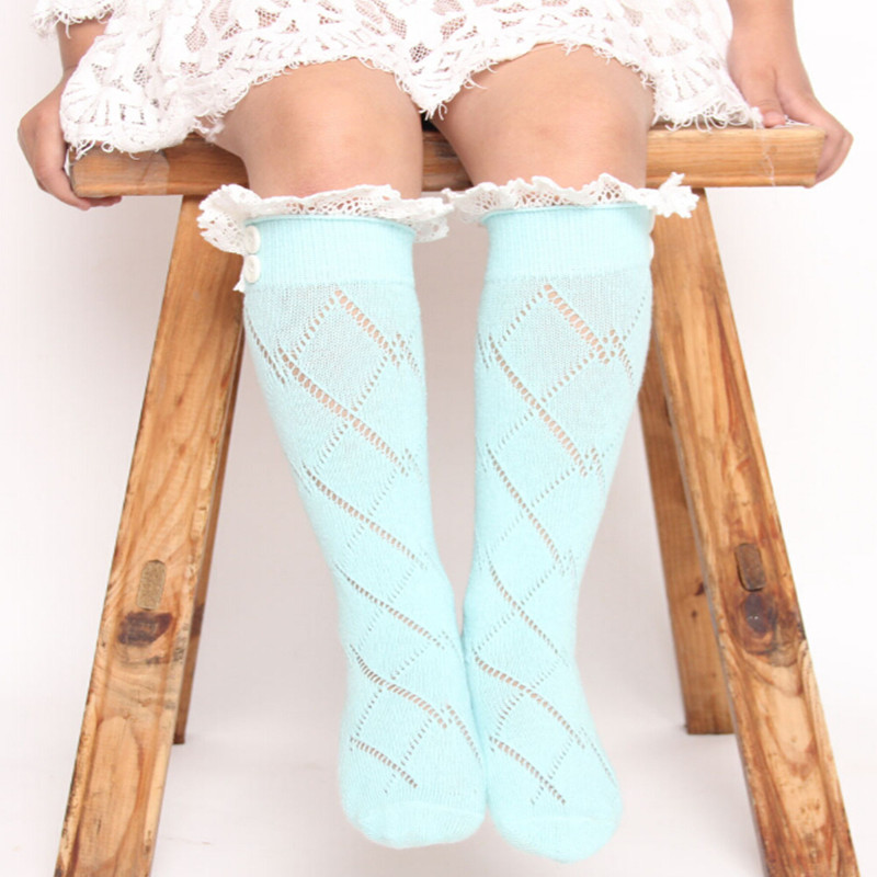 Aqua Ботинки для девочек с кружевной оборкой гольфы, Детские загрузки Носки, молодежи Девочка манжетами высота