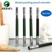 BGLN 5Pcs/set Double Head Pencil Extender Sketch Painting Standard Pencil Extender Stationery For Drawing School Art Supplies стоимость