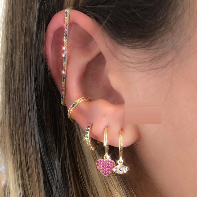 fashion women jewelry 1 piece ear cuff no piercing ear clip white rainbow cz rectangle cuff.jpeg 640x640 - fashion women jewelry 1 piece ear cuff no piercing ear clip white rainbow cz rectangle cuff earring