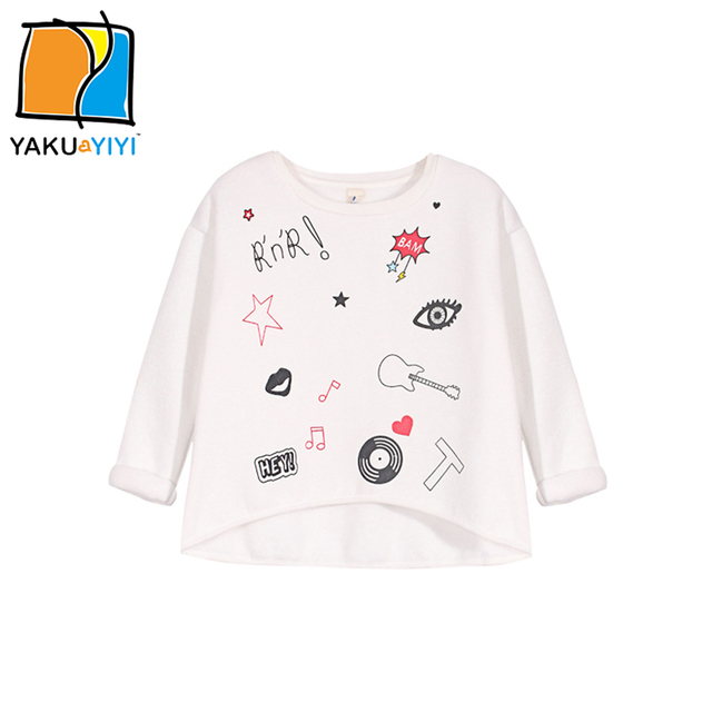 619aaa13906e YKYY YAKUYIYI Cartoon Print Girls Sweatshirt Velvet Long Sleeve Baby ...