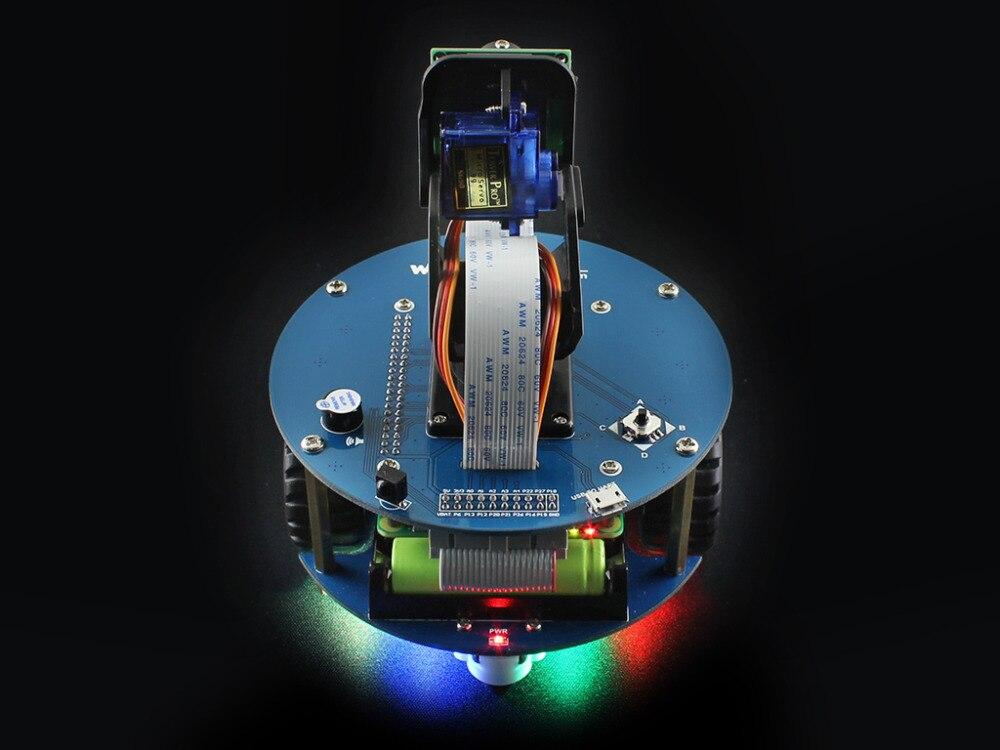 Image 4 - Raspberry Pi 3 Model B умный автомобиль аксессуар пакет AlphaBot2 робот строительный комплект с камерой 16 Гб Micro SD карта ИК пульт дистанционного управления-in Доски для показов from Компьютер и офис