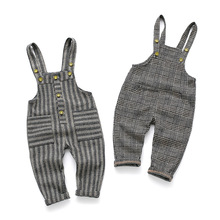 Baby Girl Boy Plaid Overalls Pants Jumpsuit 12M-4T