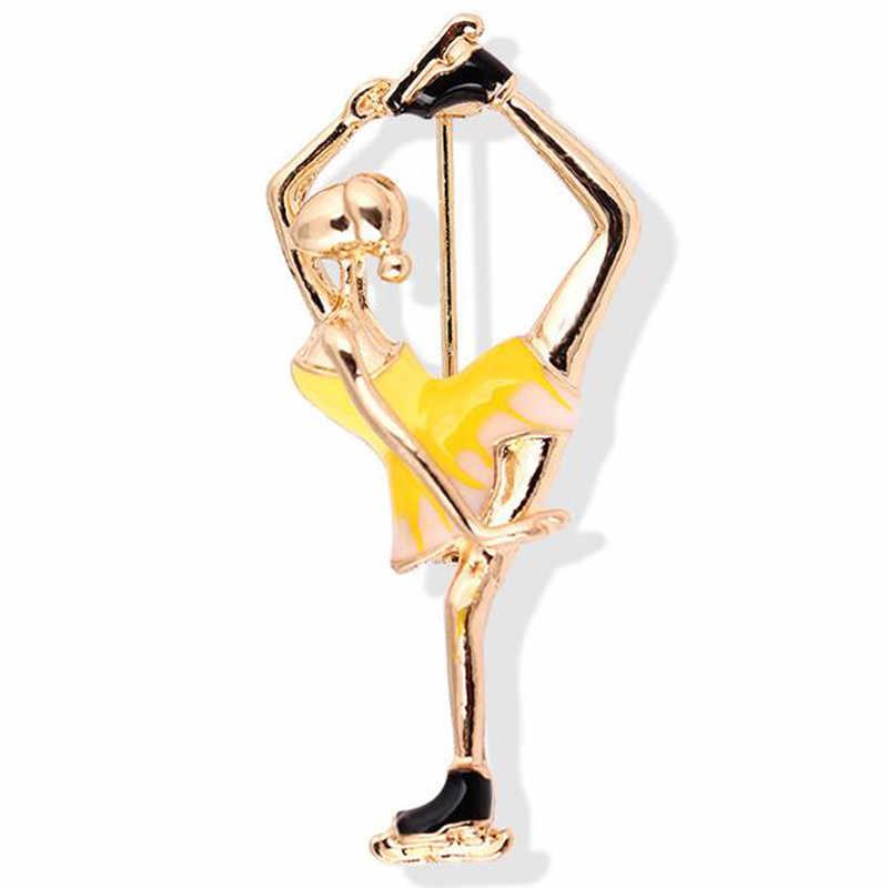 Craetive Tinh Tế Nhiều Màu Khá Váy Ba Lê Vũ Công Diễn Viên Ba Lê Huy Hiệu Phụ Nữ Cô Gái Món Quà Chân Huy Hiệu Vũ Công Ballet Cô Gái
