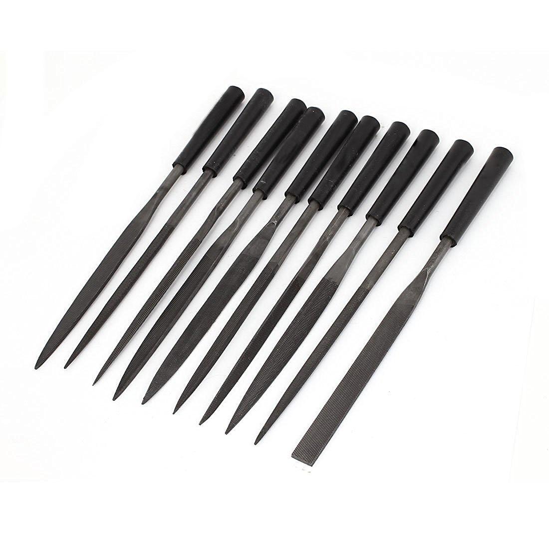 Jfbl Hot 5mm X 180mm Platz Flache Runde Raspel Dateien Werkzeug-set 10 Stücke Dauerhafte Modellierung Handwerkzeuge