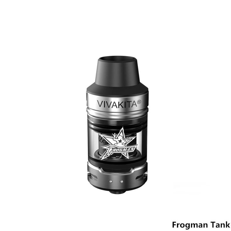 Original Frogman Tank 2ml Vape Atomizer Fit for 510 Box Mod Electronic Cigarette 0.15-0.4ohm