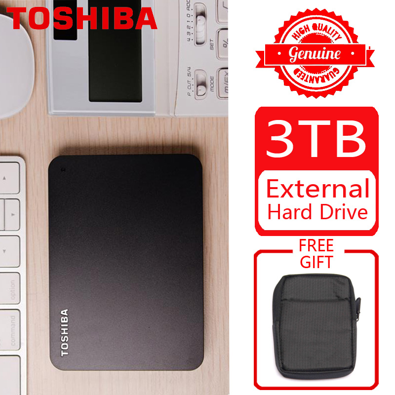 "TOSHIBA 3TB External Hard Drive Disk HDD HD Portable Storage Device CANVIO BASICS USB 3.0 SATA III 2.5"" for Computer Laptop PS4(China)"