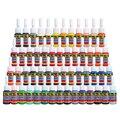 Envío libre Solong Tinta Del Tatuaje Profesional 54 Colores Establecidos 5 ml/Bottle Pigmento Del Tatuaje Kit Tintas Positivo TI1001-5-54