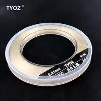 TYOZ Brand NO.24# 84LB 100% fluorocarbon fishing line Carbon Fiber Leader Line Sea Fishing Line