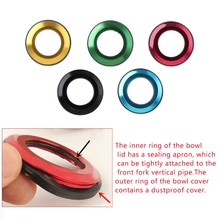 QILEJVS 1PC Bicycle Headset Cap Aluminum Alloy CNC Flat Spac