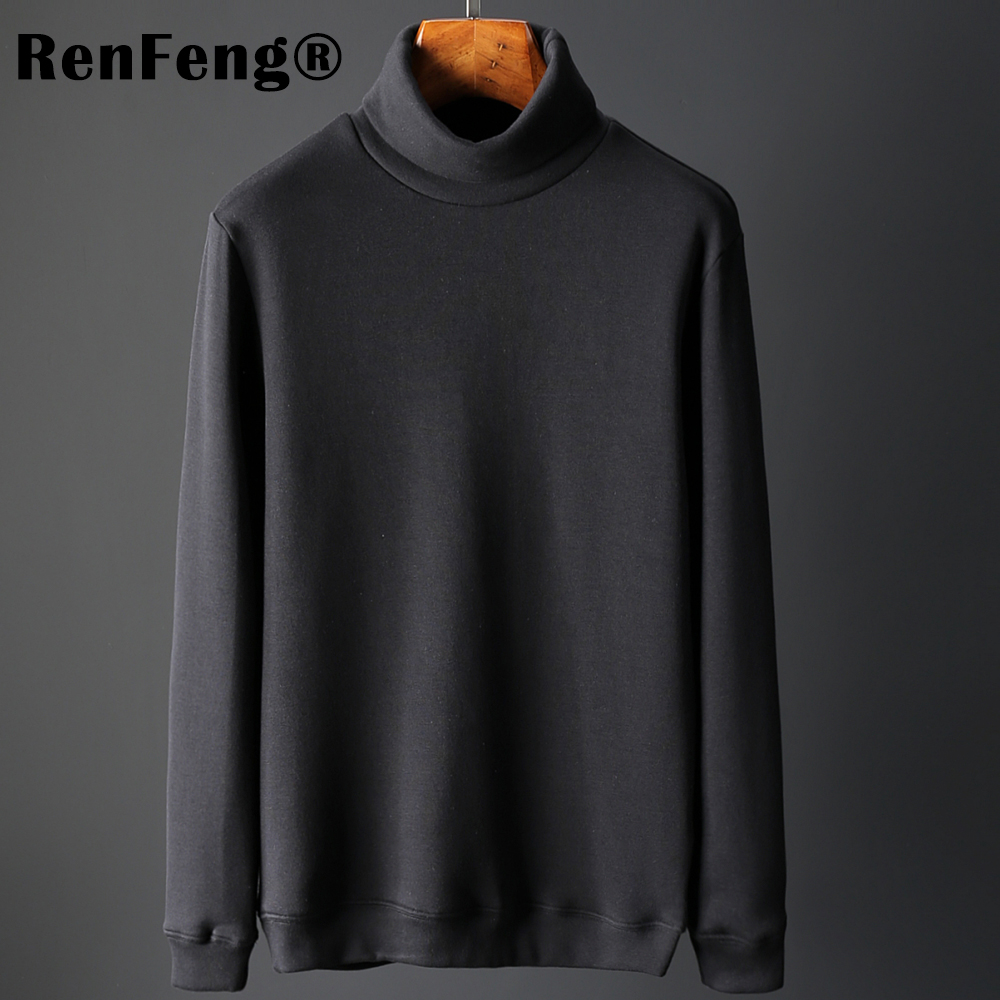 Men's Fashion Winter Men Slim thermo Long Sleeve T shirt Thicken Flannel Thermal Underwear Basic Tops Turtleneck Undershirt Male (15)
