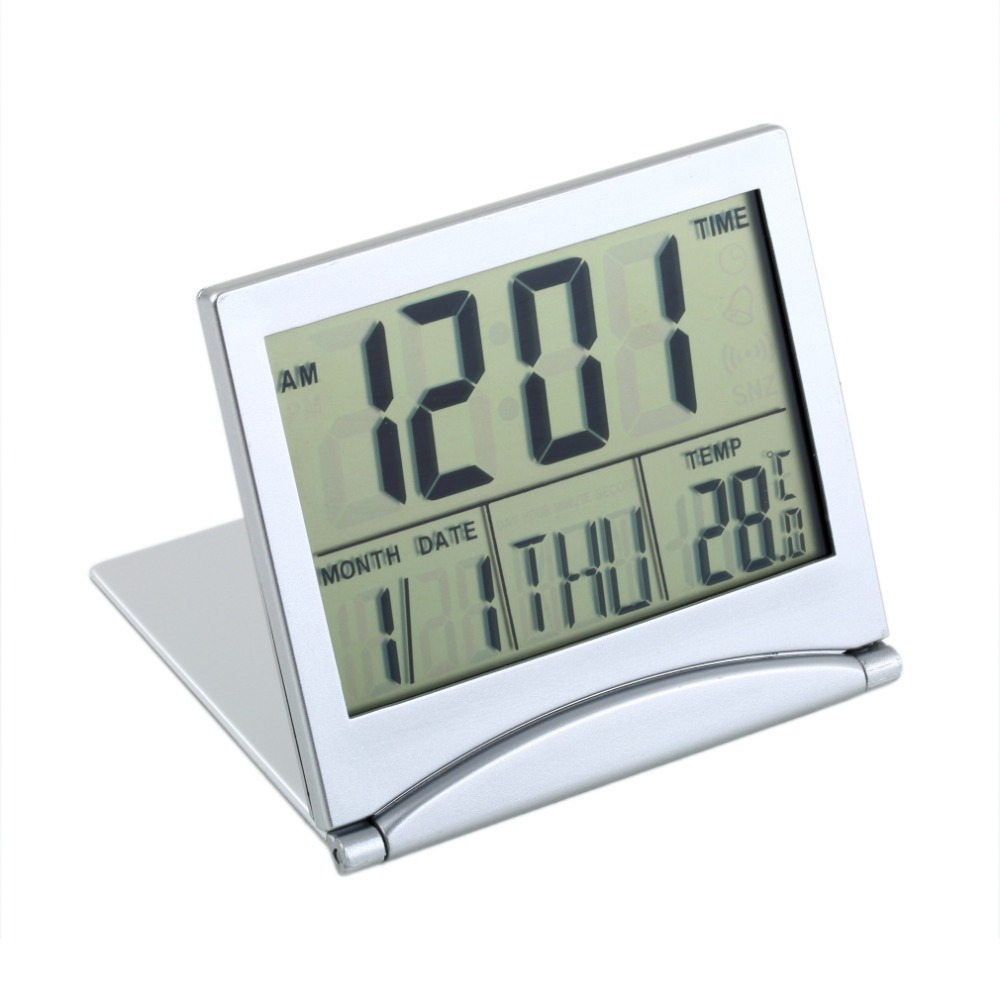 Digital Clock For Sale 2018 Hot Sale 1pcs Alarm Clock Calendar With Display Date Time Temperature Flexible Mini Desk Digital Lcd Thermometer Cover