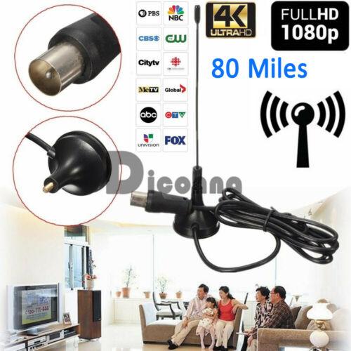 DVB-T TV 5dBi Magnetic Based Antenna 30 DB Indoor Gain Digital DVB-T/FM Freeview Aerial Antenna Amplifier For TV HDTV 2B22