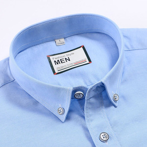 Image 4 - 2019 여름 짧은 소매 100% 코튼 옥스포드 쉬운 관리 일반 맞는 솔리드 스트라이프 격자 무늬 비즈니스 남성 캐주얼 셔츠