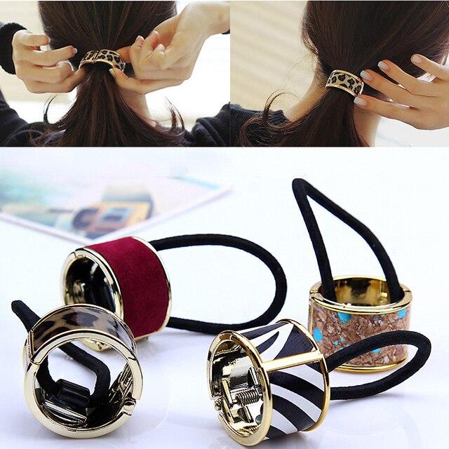 Fashion 15Colors Korean Hair Claw Solid Big Bows Banana Hairpins Ties Ponytail H