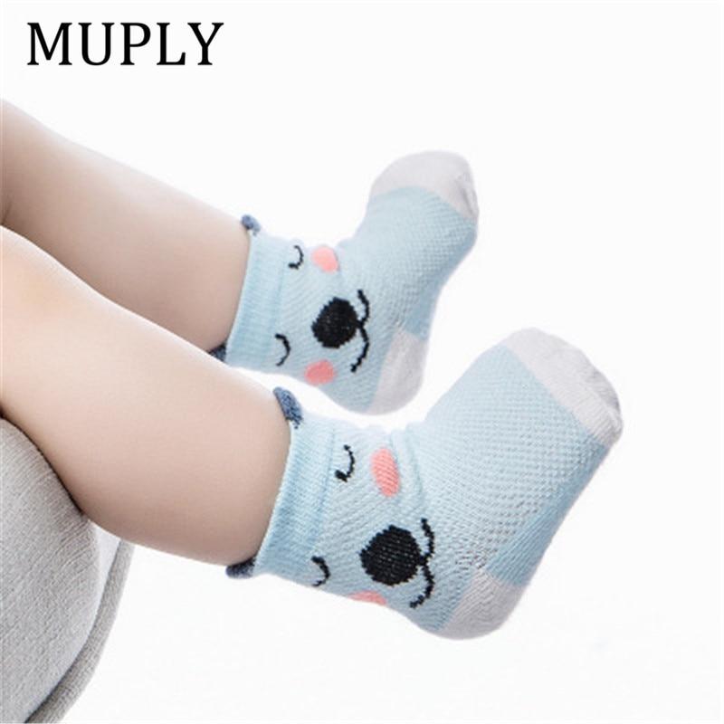 5 Pair/lot Stripes Socks 5 Style Soft Cotton Infant Sokken Cute Cartoon Pattern Kids Socks For Baby Boy Baby Girl Meias