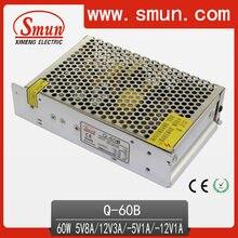 Hot Sale SMUN Q-60B 60 w 5V8A/12V3A/-5V1A/-12V1A Quad Saída de Comutação da fonte de Alimentação SMPS