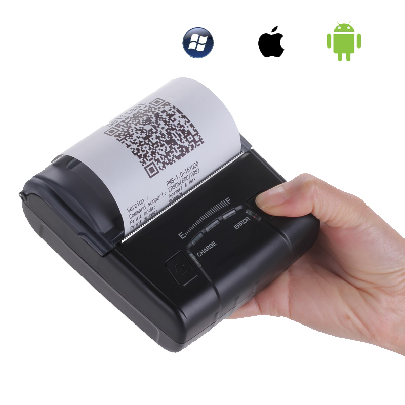 80mm mini portable bluetooth apple IOS android receipt font b printer b font with 2500mAh battery