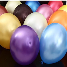 Most popular! 12 inches thick 3.2 g pearl balloons(50pcs \ lot) wedding birthday party  decoration high-quality balloons