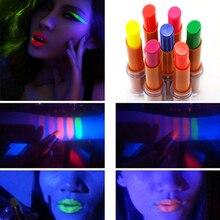 7 Colors Fluorescent Lipstick Luminous Lip Stick Batom Glow In
