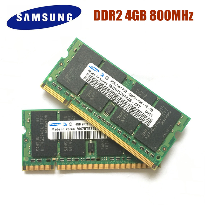 Free Shipping Samsung Laptop memory 4GB PC2 6400 DDR2 800MHz Notebook RAM 4G 800 6400S 4G