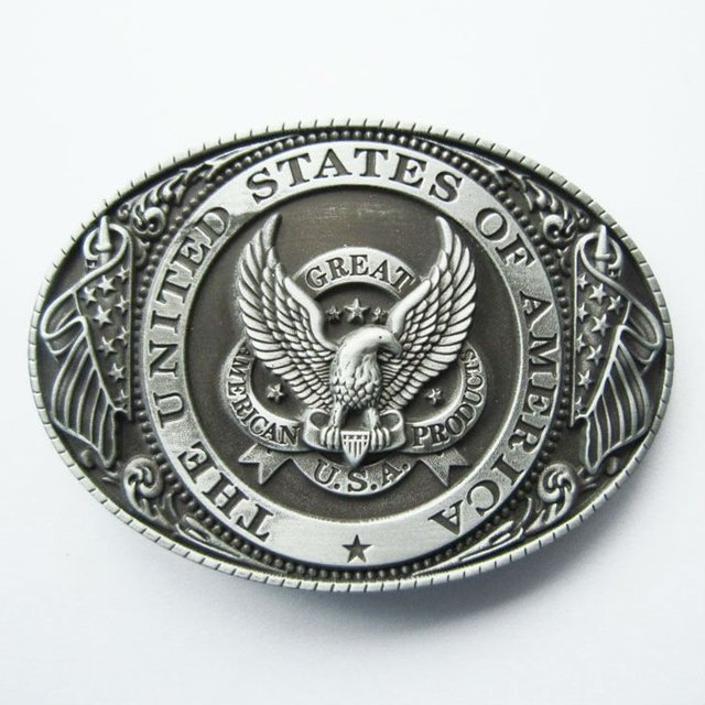 b90d8c613477 Men Belt Buckle New Vintage Great US Eagle Flag Oval Belt Buckle  Gurtelschnalle Boucle de ceinture