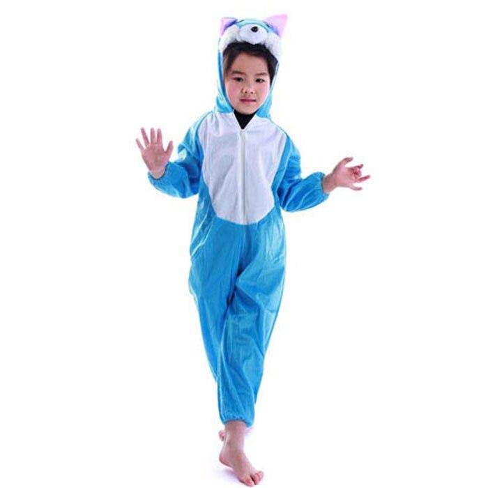 Lovely Kids Unisex Children Animal Pajamas Anime Cosplay Costume Onesie Blue Cat in stock for sale