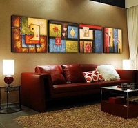 Free Shipping Hand Painted Modern Cute Girls Oil Painting On Canvas Home Decorative Picture Abstract Paint Wall Art 3pcs
