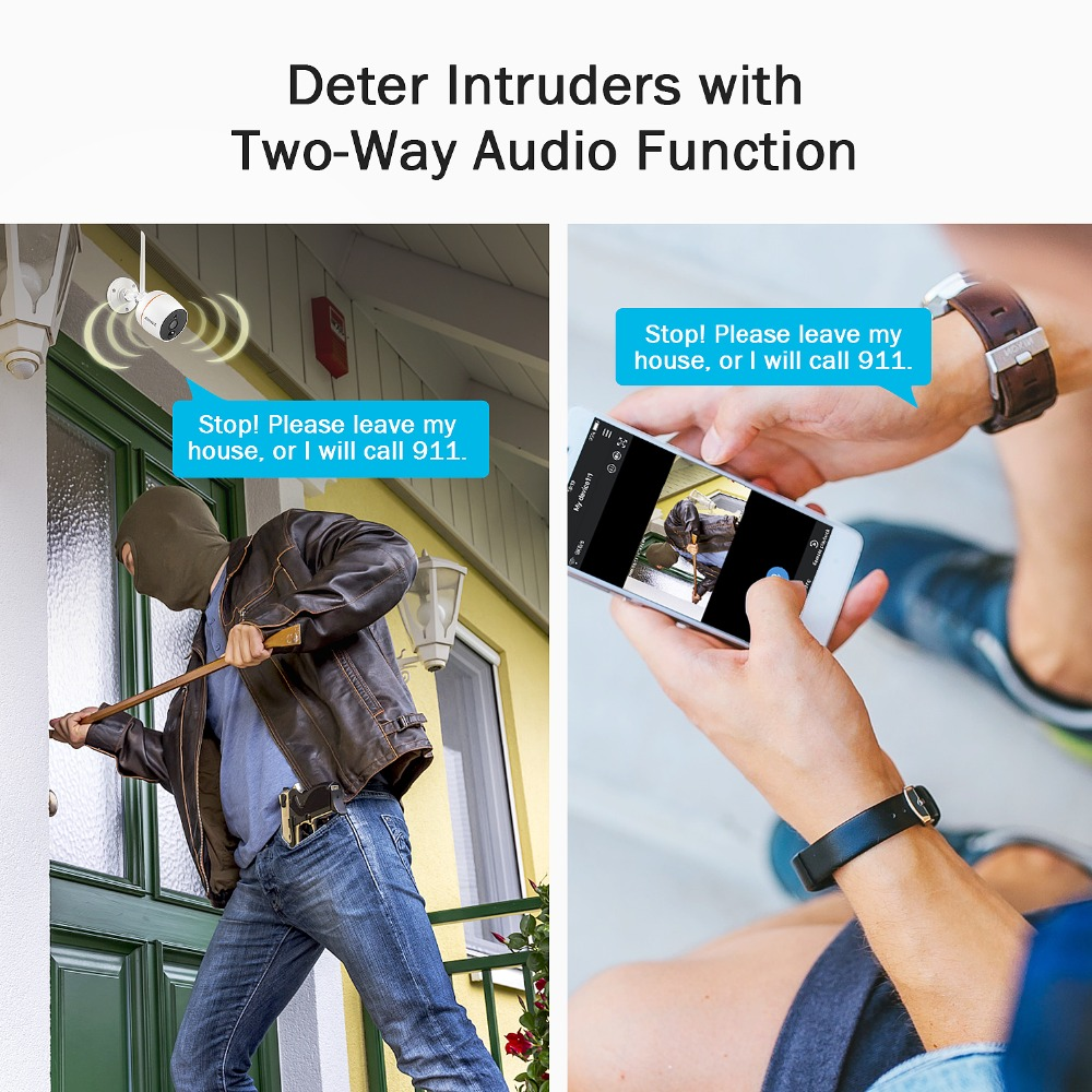 ANNKE 1080 P IP Netzwerk Wi-fi Sicherheit Kamera IP66 Wasserdicht Indoor Outdoor 2.0MP Überwachung Kamera für Wifi NVR CCTV System
